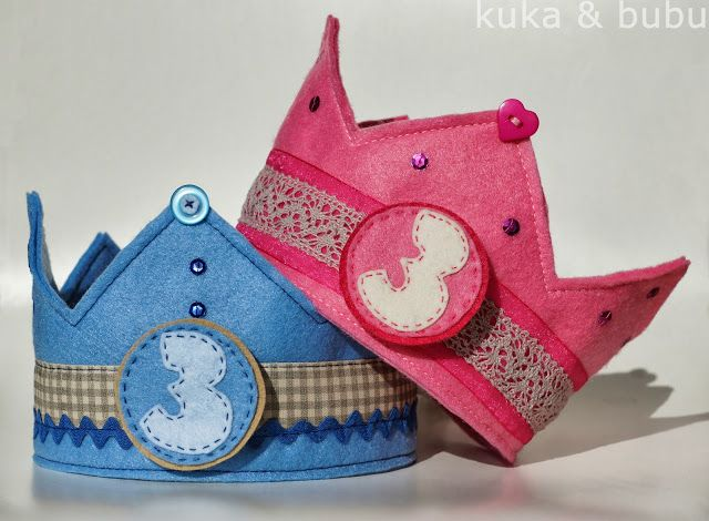 kuka and bubu: More birthday crowns! – ¡Más coronas de cumpleaños! velcro # and tie in back with ribbon EASY
