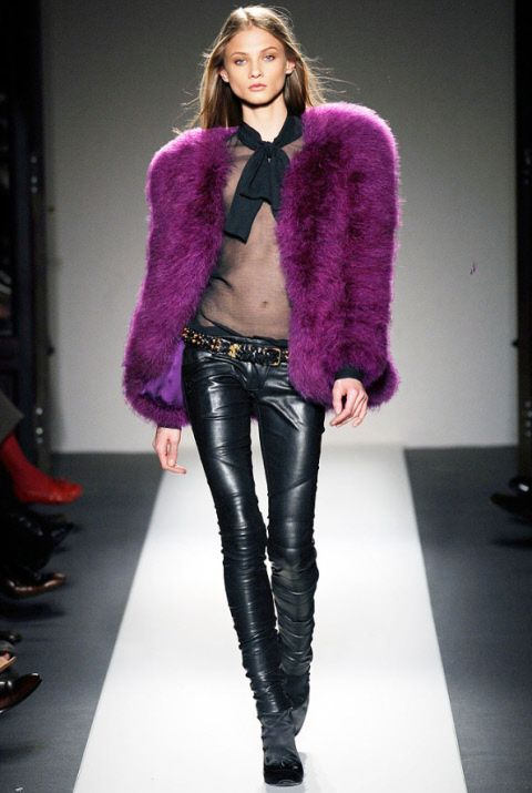 Balmain purple fur jacket- sorry it's from 2010 but still amazing!
