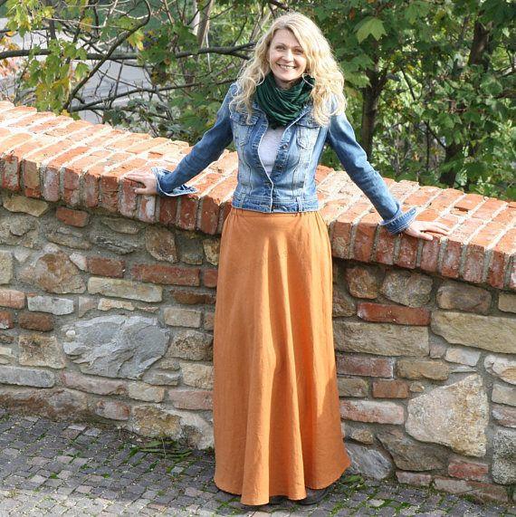 AMALIA  Stunning romantic long skirt made of pure linen