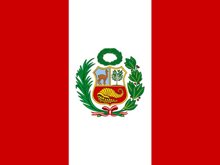 The Peru flag is red and white which symbolizes peace and honestly(red) and bravery and strength (white). The flag was adopted on February 25, 1825