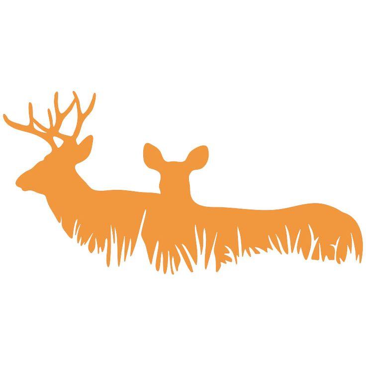 사슴 가족 벅 사냥 스티커 자동차 후면 앞 유리 트럭 범퍼 SUV 도어 노트북 카약 예술 벽 등 비닐 데칼 8 색상
