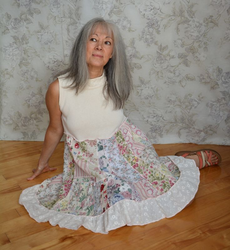 Lagenlook Summer Dress in my Etsy Shop: www.etsy.com/ca/shop/Stregaputti