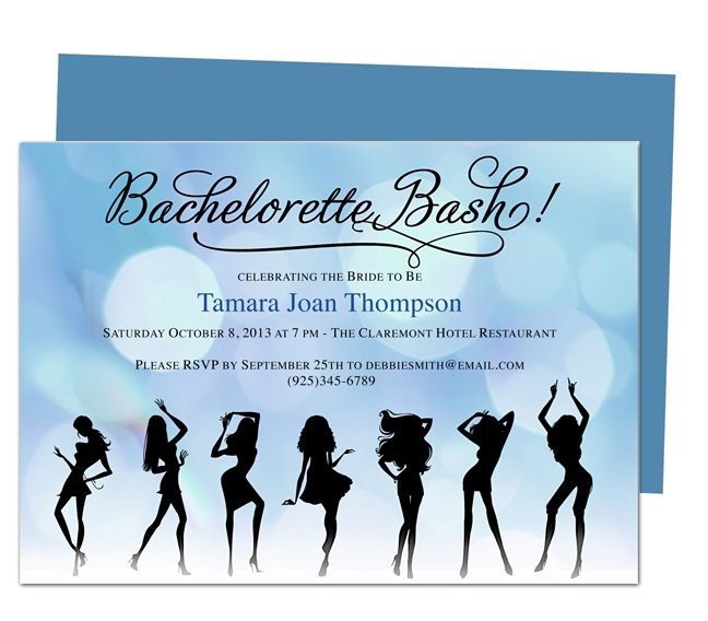 Printable DIY Bachelorette Party Invitations Template : Party Girls Bachelorette Party Invitation Templates