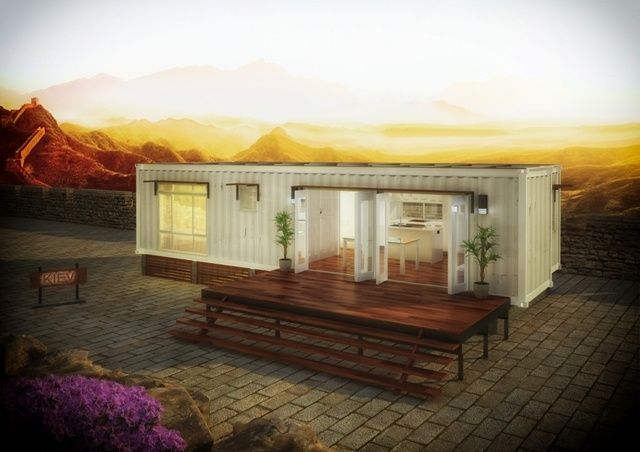 Kiev Prefabricated Container Home | Two Bedrooms Modular Home