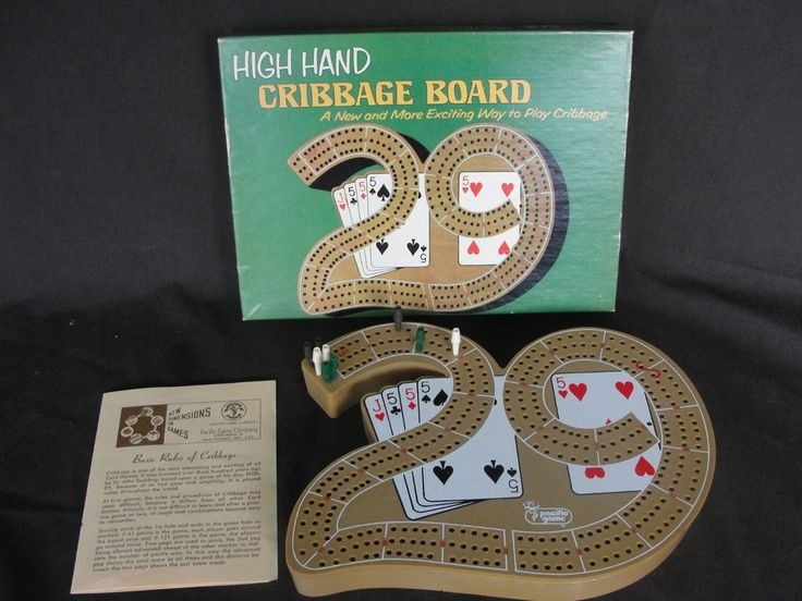 Vintage 1976 High Hand Cribbage Board 29 Card Game Complete