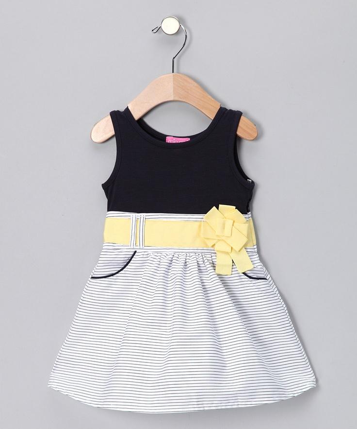 Minoti: Navy Bow Stripe DressKatherine Hadara, Baby'S Kids, Bows Stripes, Future Baby, Baby Girls, Navy Bows, Stripes Dresses, Dresses Kids, Baby Stuff