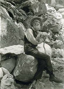 John Muir, 1907. His wilderness preservation activism helped save Yosemite Valley and Sequoia National Park. Founder of the Sierra Club.