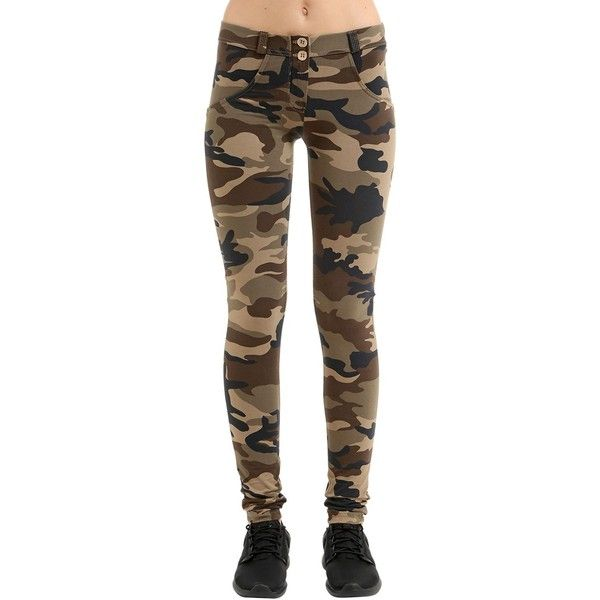 Freddy Women Wr.up Snug Camo Stretch Cotton Leggings (193 AUD) ❤ liked on Polyvore featuring pants, leggings, camouflage, legging pants, camo print leggings, stretch leggings, camo leggings and freddy pants