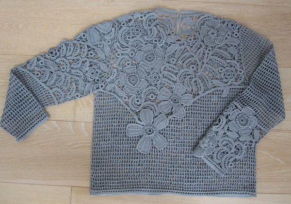 Irish crochet pullover