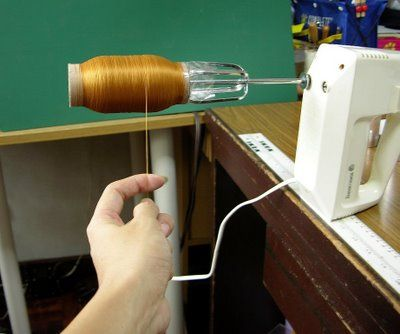 Batteur à oeufs + 1 rouleau de papier toilette = bobinage ultra rapide !