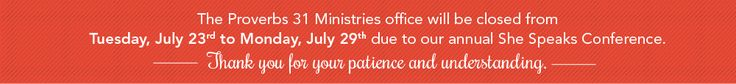 Our office is closed Tuesday July 23th through Monday July 29th