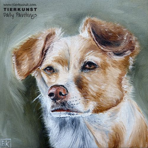Nelly - Ölportrait in 20x20 cm. Sold.