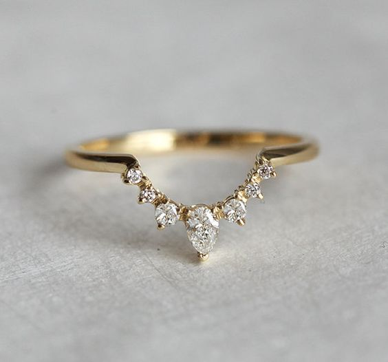 So special! White diamond ring. We can make this band to match perfectly with…