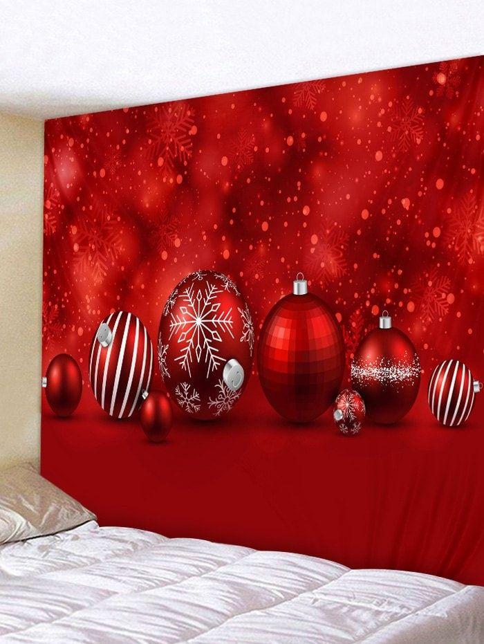 Christmas Ball Print Wall Tapestry Art Decor Christmas Wall Art Christmas Wall Prints Printable Art Wall Decor