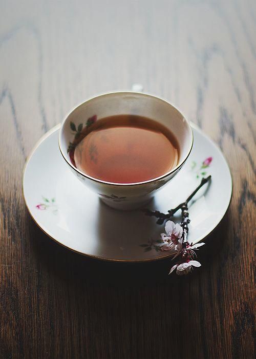 A cup of tea on a spring afternoon.