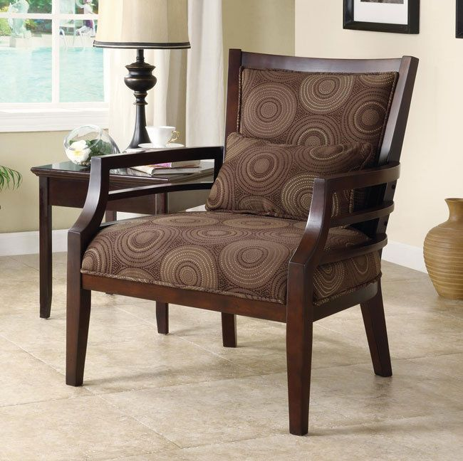 Philly Modern Chocolate Circle Fabric Dark Brown Wood Frame Finish Accent  Chair In Home U0026 Garden · Stylish Living RoomsLiving Room ...