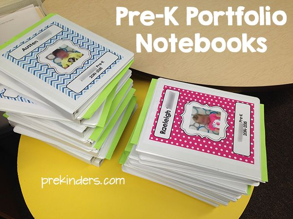 Pre-K Portfolio Notebook