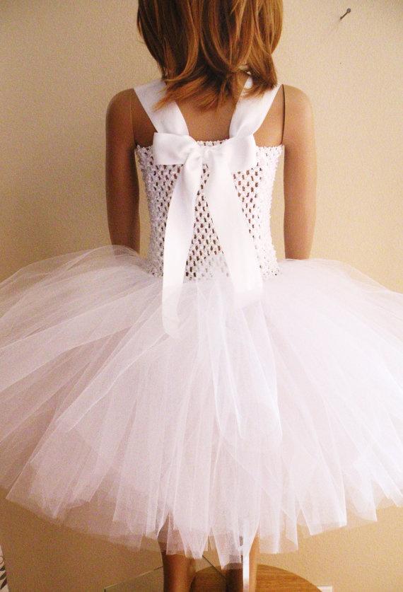 Flower Girl Dress Tutu Dress by APocketfulofBows on Etsy, $54.99