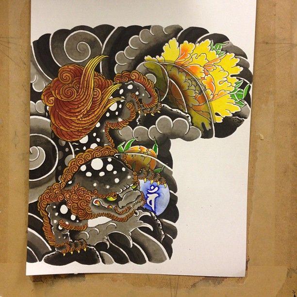 "100 Likes, 6 Comments - Oskar Horiyama Ekenbro (@oskarekenbrotattoo) on Instagram: ""Recently finished this gobun with karashishi to botan design. @senjuandmadako @horimatsu #horimono…"""