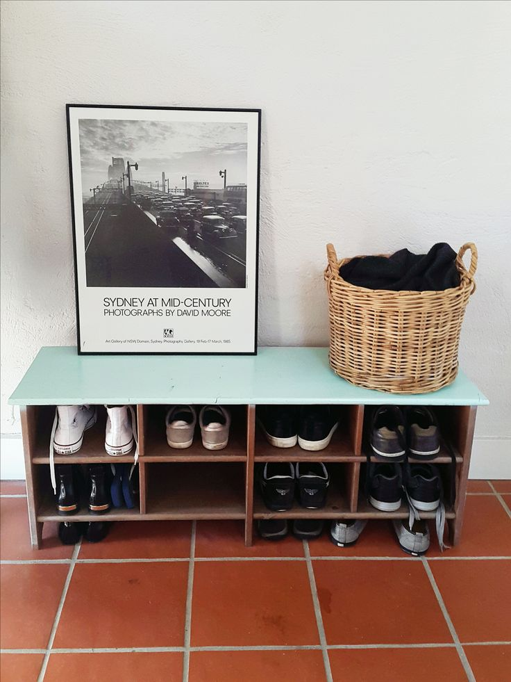 ...Beacon Hill...using only pieces available in the house and free wooden shoe storage that was sanded and repainted...