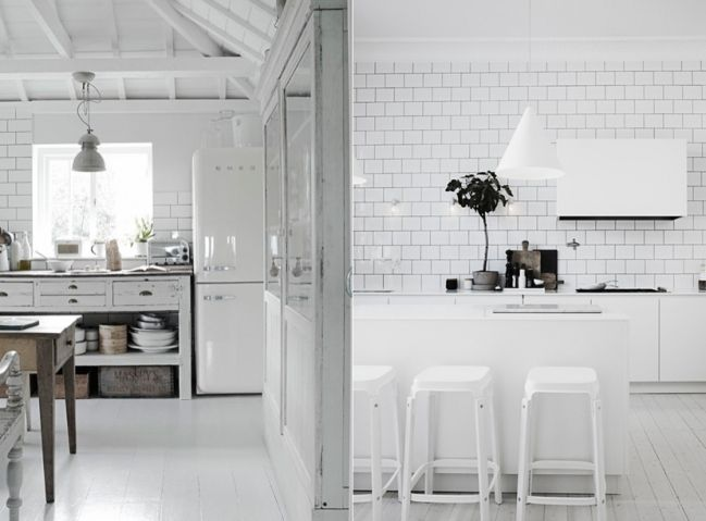 Contrast Grout Dark Grout Subway Tiles White Kitchen