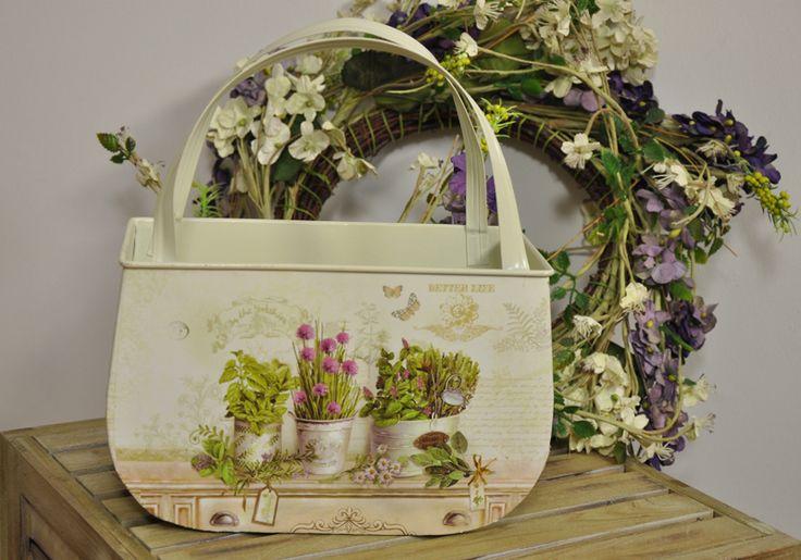 Koszyczek na Zioła i Kwiaty Prowansja Decoupage / Baskets for Herbs and Flowers Provence Decoupage