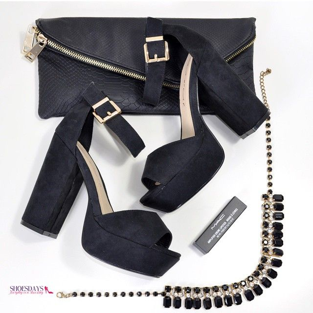 Evening essentials, Dolcis high heel chunky platform sandals. Only £24.99 - go on make today a shoesday.