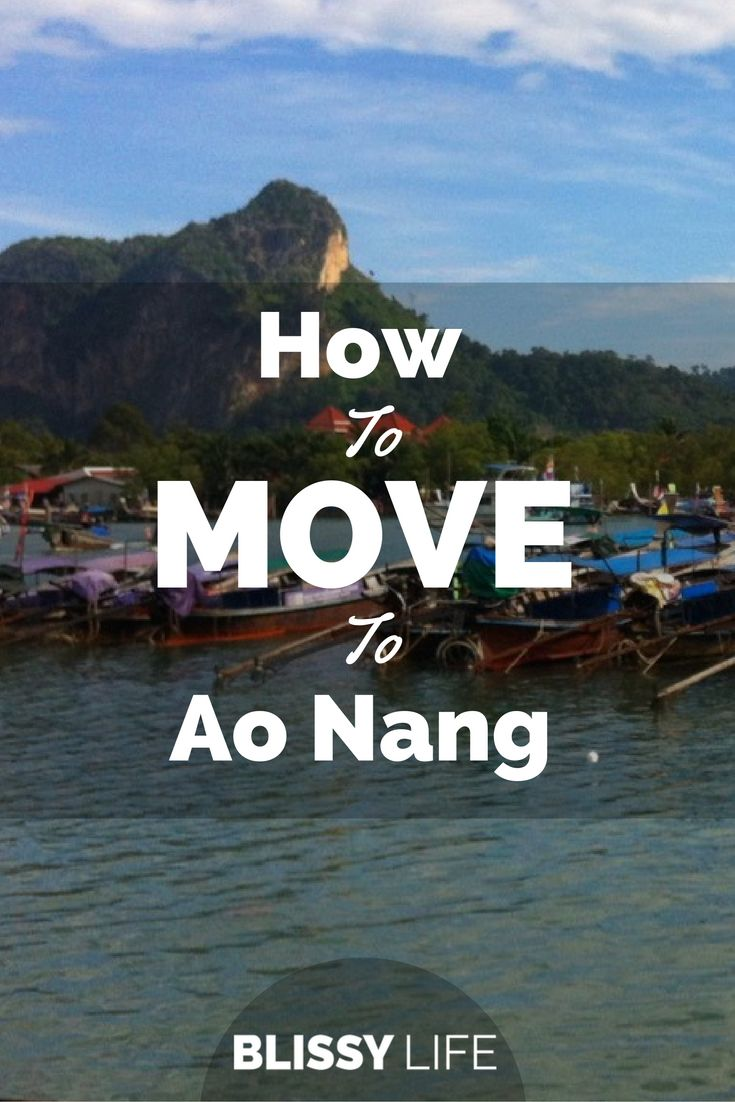 Thinking about moving to Ao Nang? Here are some great insider tips to help you get started! via @blissy_life