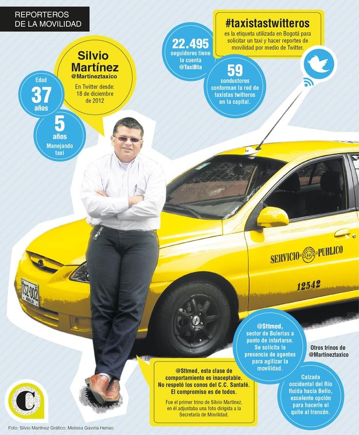 Algunos conductores de Bogotá usan Twitter para interactuar y comunicarse con sus usuarios. En Medellín, uno de ellos promueve el uso de la red para mejorar el tránsito.