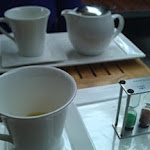 Giving the customers choice of steeping times for their tea.  Love it!