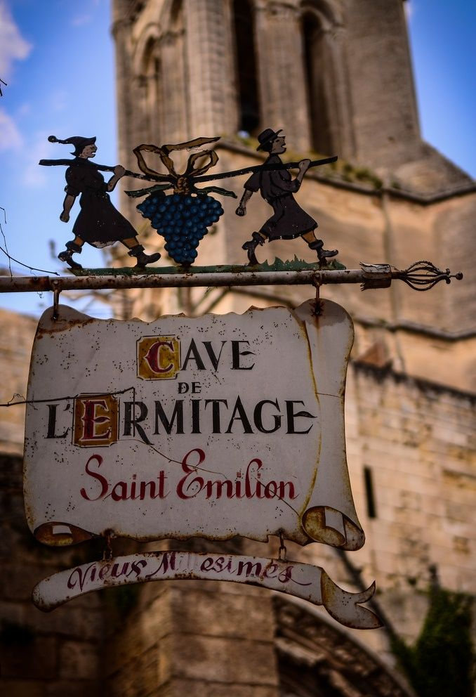 Along the Route du Vin, the Wine Route in Bordeaux: Saint-Émilion, Aquitaine, France. Drive along and stop for tastings at the various vineyards along the way.