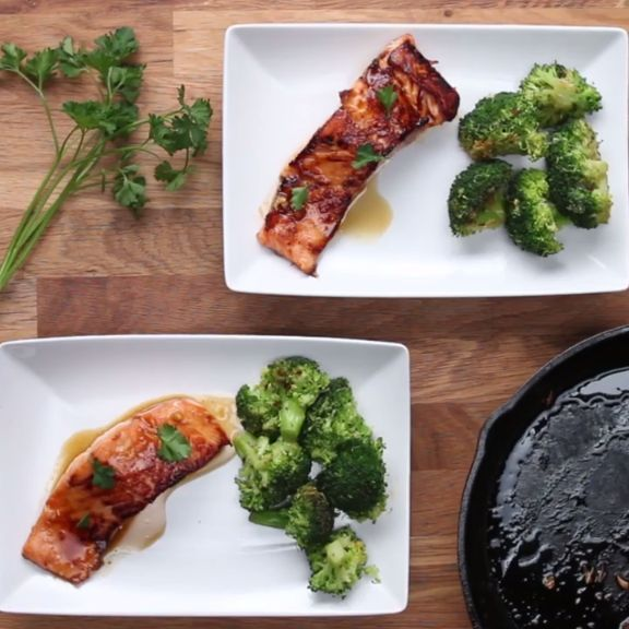 Maple Glazed Salmon Dinner