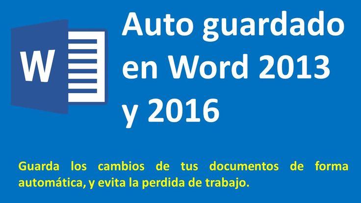 Auto guardar los cambios en Microsoft Word