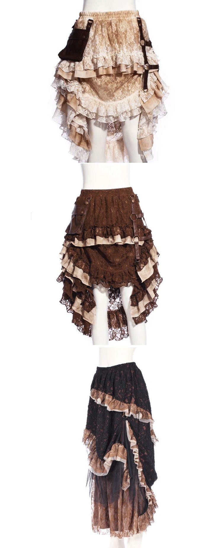 Shop steampunk Victorian skirts at RebelsMarket.
