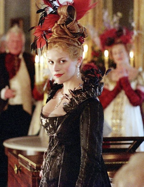 Reese Witherspoon as Becky Sharp in Vanity Fair (2004).