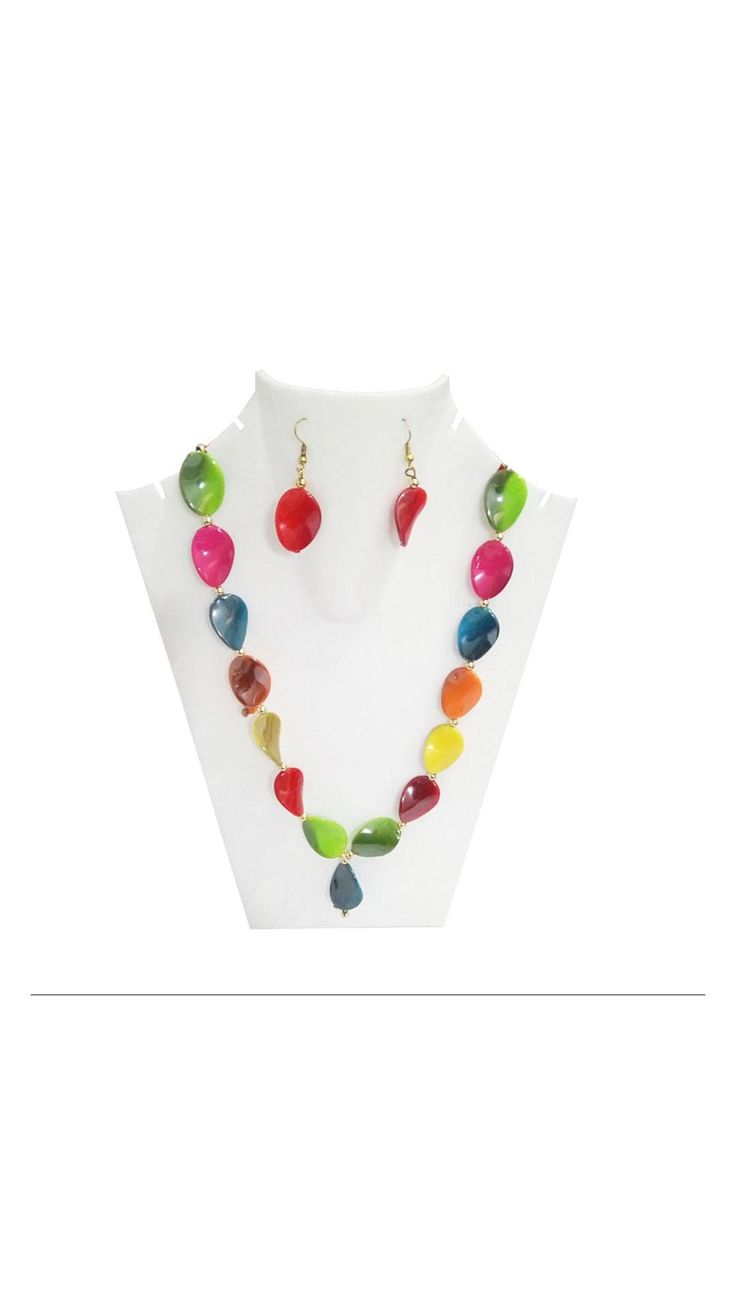 Traditional Handmade Multicolor Stone Necklace Set