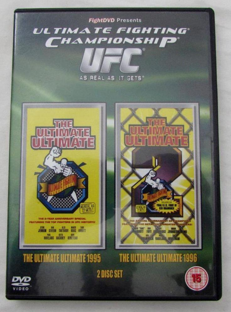 Rare Ultimate Fighting Championship UFC Ultimate Ultimate 1995 & 1996 2 DVD Set