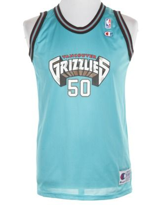 NBA Vancouver Grizzlies Bryant Reeves Signed Basketball Vest