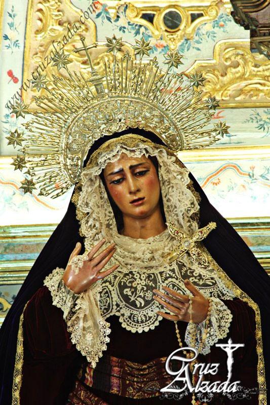 Virgen de las Angustias, Hermandad Sacramental de los Gitanos de Sevilla  Cuaresma 2013. Spain