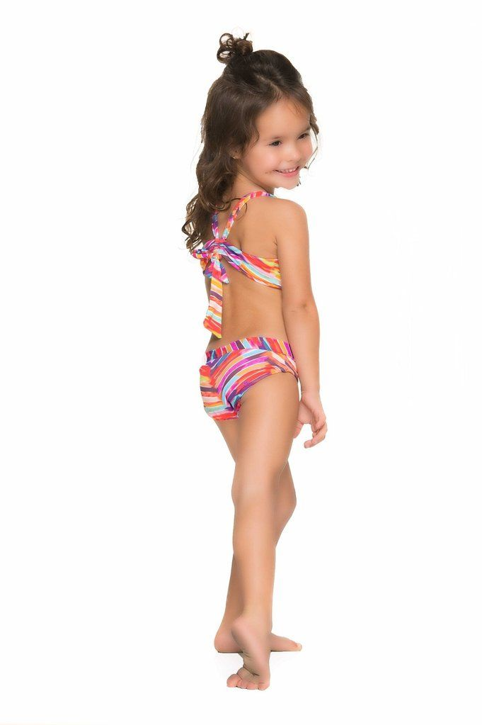 b2ccc32ee4 This stripe kids bikini is one of the most adorable swimsuits we have ever  seen.