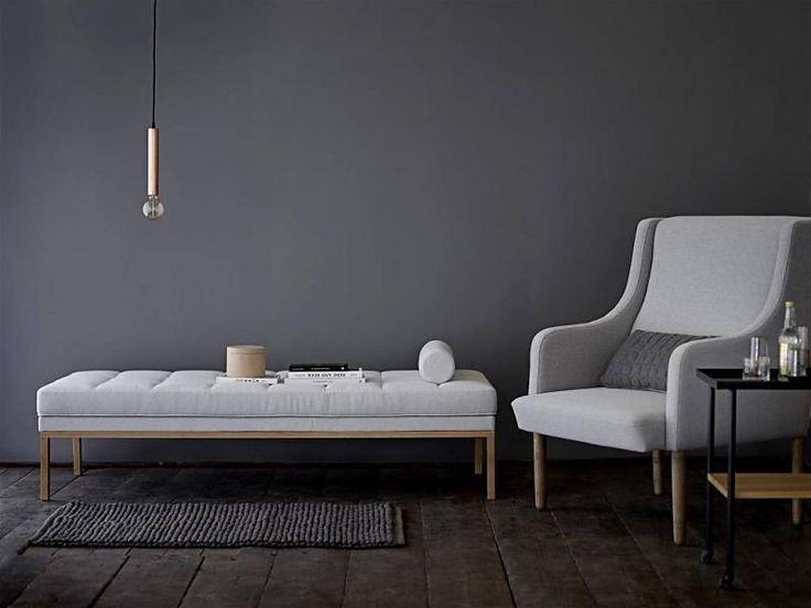 Bloomingville Divine dagbed sofa bank licht grijs wol hout 1225,-