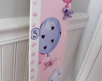 Wooden Growth Chart Personalized and by GypsyLaneDesigns on Etsy