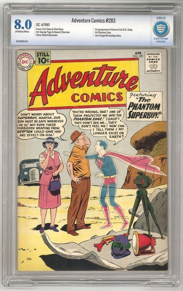 Adventure Comics 283 CBCS 8.0 OW/W 1st General Zodd
