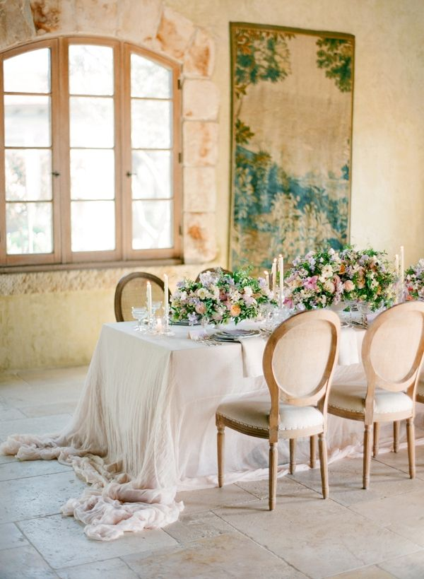 La Tavola Fine Linen Rental: Tuscany White | Jose Villa Photography, Styling, Design & Direction: Joy Proctor, Floral Design: Kelly Kaufman Design, Paper goods & Calligraphy: Love Jenna Calligraphy, China & Glassware: The Ark, Place Settings & Silverware: Small Masterpiece, Location: Cal-a-Vie