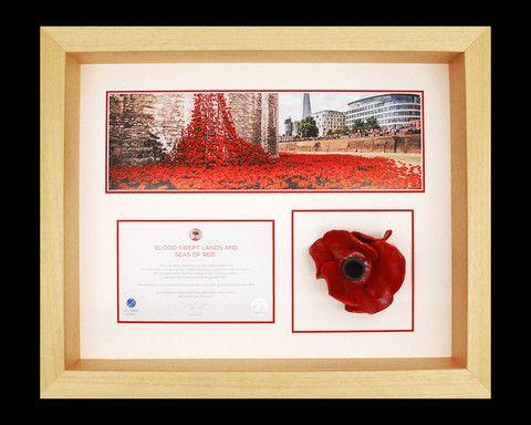 Frame to display London Ceramic Poppy