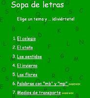 Primero de primaria: SOPAS DE LETRAS