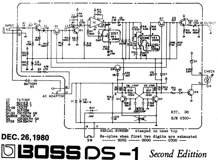 Boss DS1 Pedal Schematic Pedal Tech Pinterest Boss