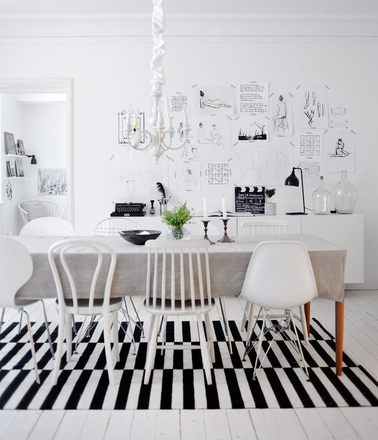 White dining room:
