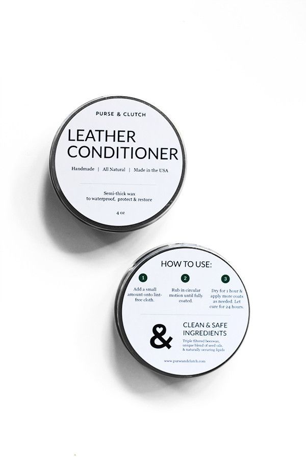 Purse & Clutch Natural Leather Conditioner