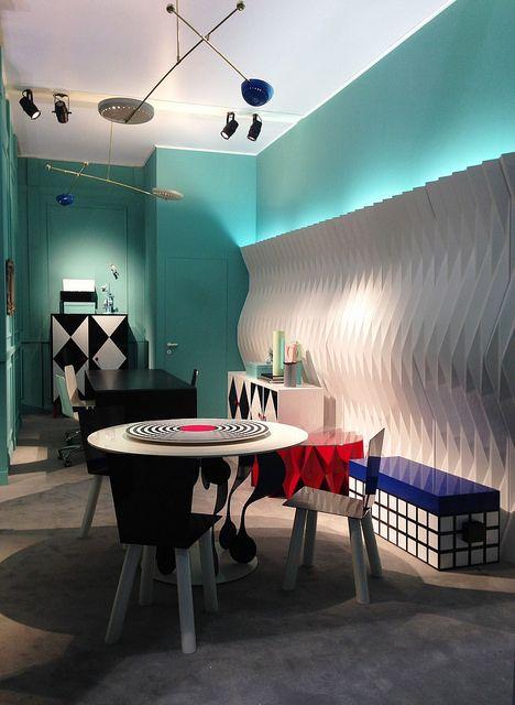 #altreforme #diningroom A Moveable Feast #stand @iSaloni 2014 #paris #anni20 #roaringtwenties #designweek #interior #home #decor #homedecor #furniture with #woweffect #aluminium